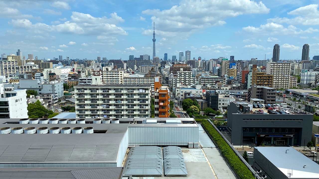 ホテルイースト21から撮影した東京の写真